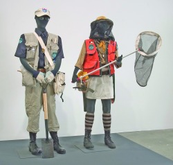Mark Dion, The South Florida Wildlife Rescue Unit: The Uniforms, 2006 Two mannequins, clothing, custom patches, assorted gear; Dimensions variable Collection Miami Art Museum, gift of Lin Lougheed