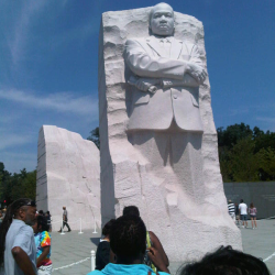 It looks like MLK doing a Malcom X impression