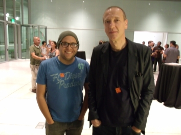 Me and Christian Marclay!  I really nerded out and may have creeped him out a bit.  Sorry, Tampa, if he never comes back.