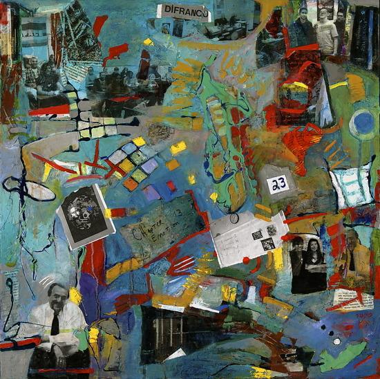 """Emotion Review""- Medium: Acrylic on Canvas Size: 24"" x 24"" x 1.5"""