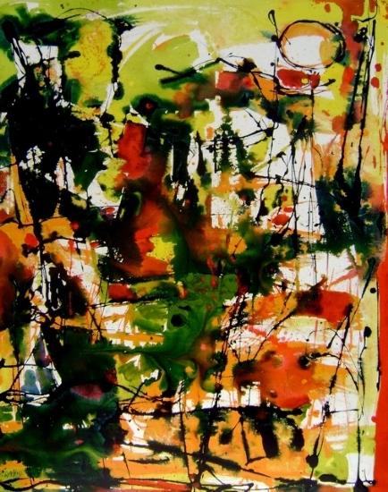 """Juicy Music"" Medium: Acrylic on Canvas Size: 30"" x 24"""