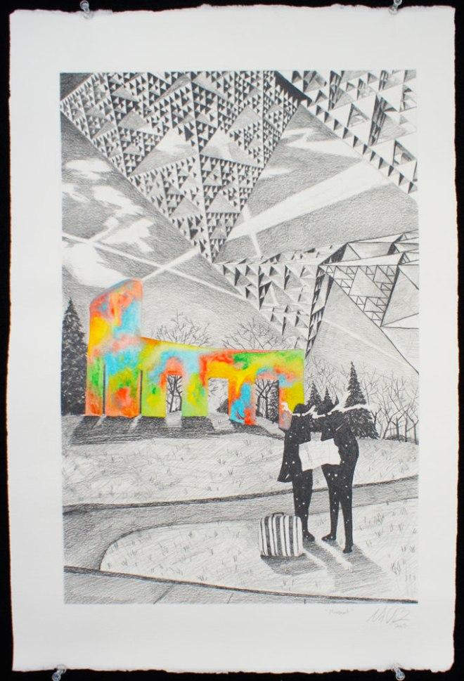 """Movement"" Graphite & Acrylic on Paper 18""x12"""