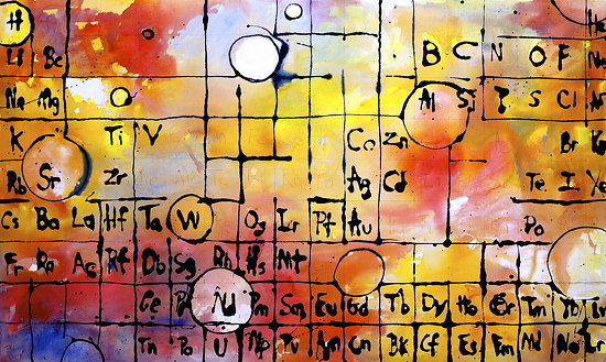 """Periodic Table-2""- Medium: Acrylic on Canvas Size: 36"" x 60"""