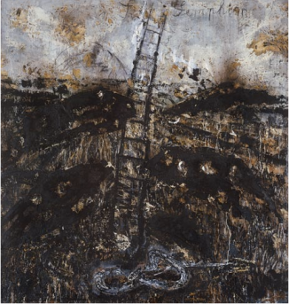 An example of neo-expressionism: Anselm Kiefer, Seraphim, 1983–84