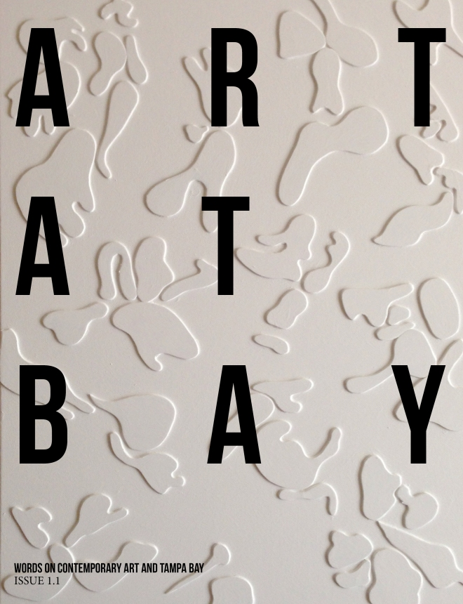 The cover of the upcoming ART AT BAY Issue 1.1 Artwork: Anthony Record, Similar Scars, 2013