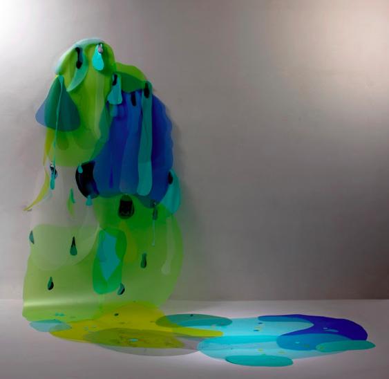 Panta Rhei, folhas sintéticas, 2012 Lourdina Jean Rabieh Gallery